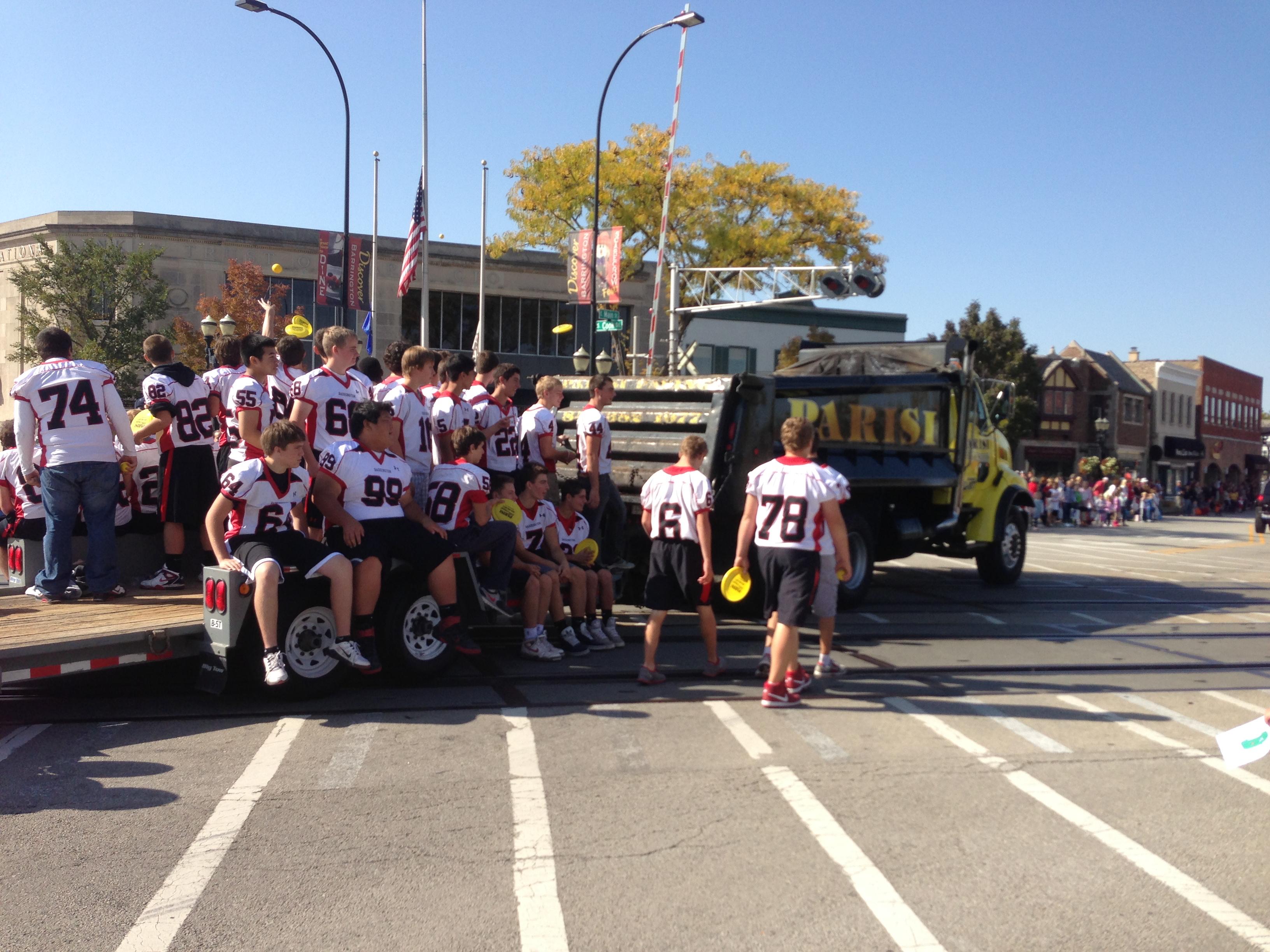 Parade football team