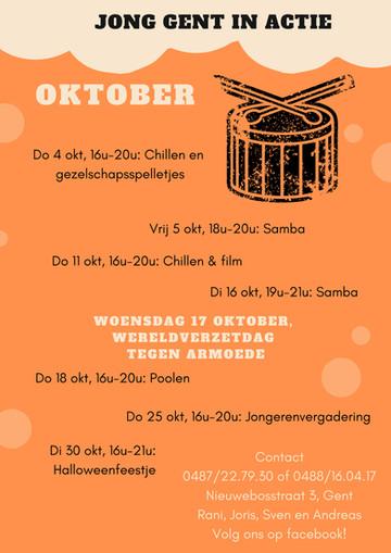 Het oktober programma van Jong Gent in Actie