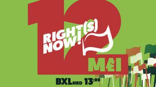 RIGHT(S) NOW! Mars voor het Klimaat en sociale rechten voor iedereen op 12 mei!