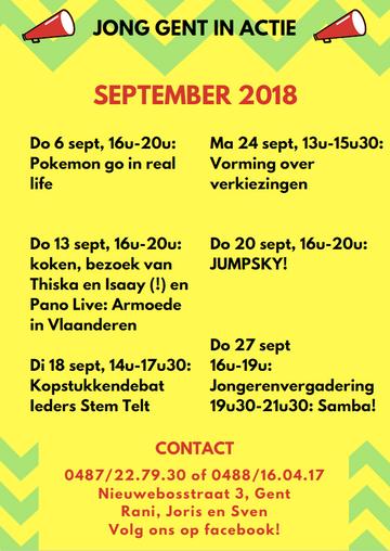 Wat doet JGiA in september?