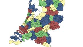 Fractal dimension of human migration within Netherlands