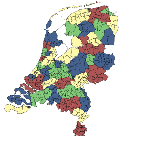 Fractal dimension of human migration within Netherlands