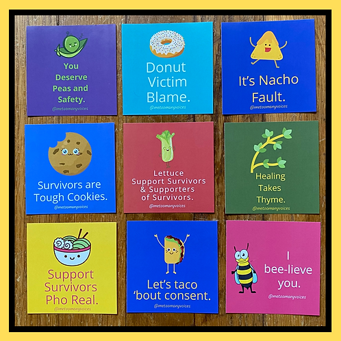 Punny Support Stickers (9 for $9)