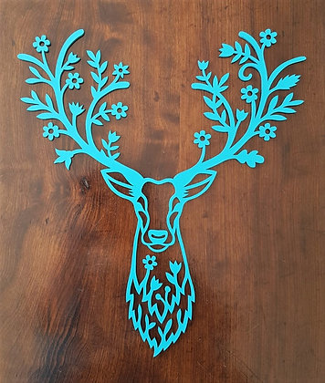 Stag Head with Floral Antlers