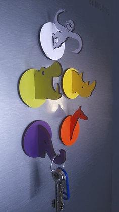 African Animal Magnetic Keyhooks