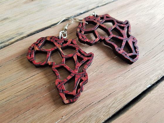 Shweshwe Africa Earrings