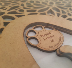 Coasters and placemats from 3 mm mdf