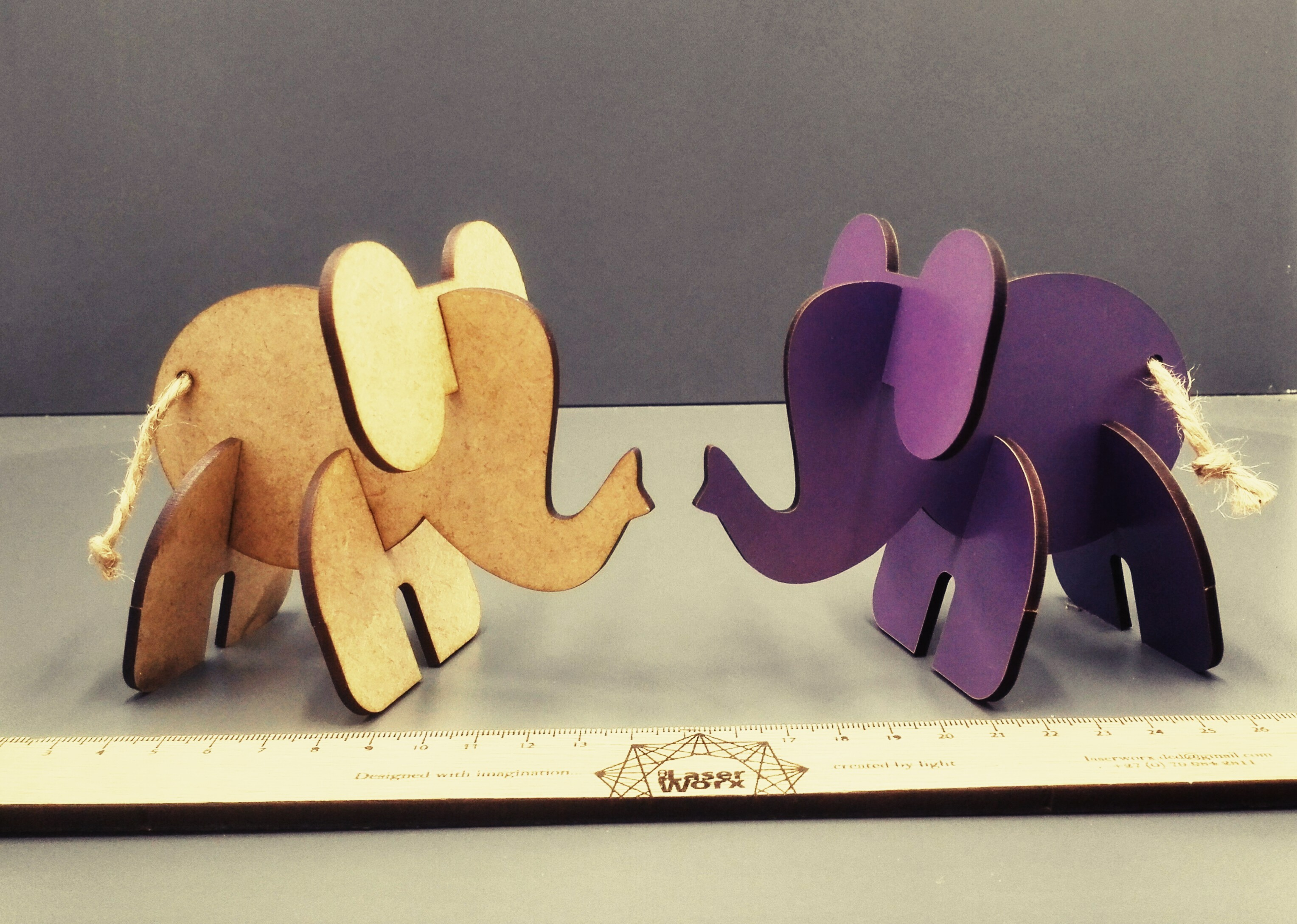 Slot together elephant puzzles