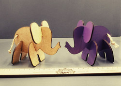 Slot together elephant puzzles