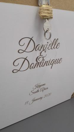 Engraving for a wedding