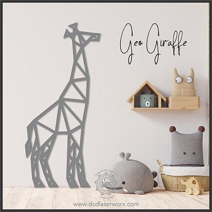 Geometric Giraffe - Standing Tall