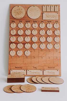 GIANT Wooden Perpetual Calender