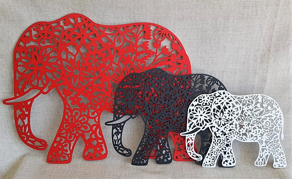 Floral Elephant Cut Out - Three sizes