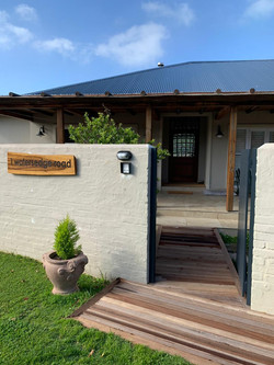 House signage on indigenous ironwood