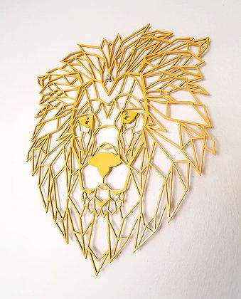 Geometric Lion Cut Out