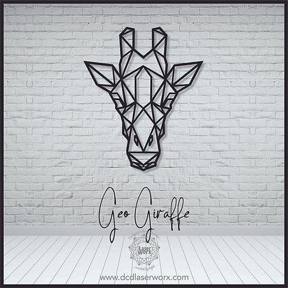 Geometric Giraffe Head