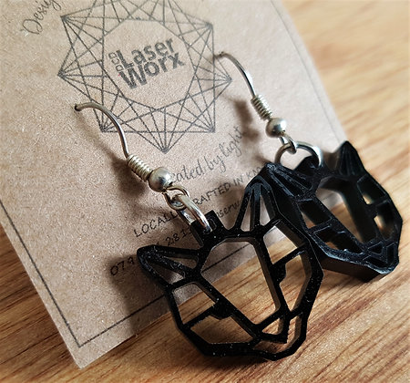 Geometric Cat Earrings