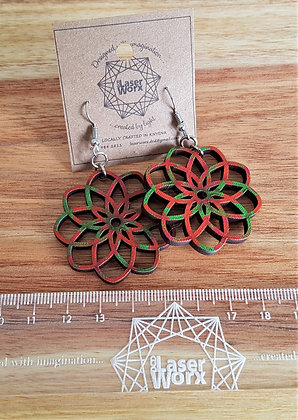 Shweshwe Sacred Geometry Earrings