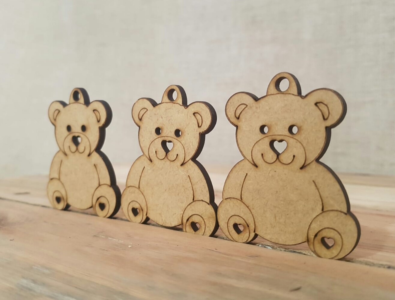 Keyrings for a Teddy Bear's picnic