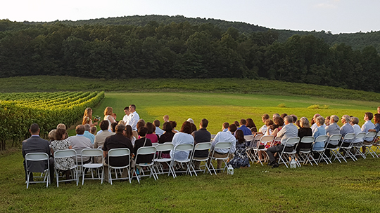 Outdoor Vineyard Wedding