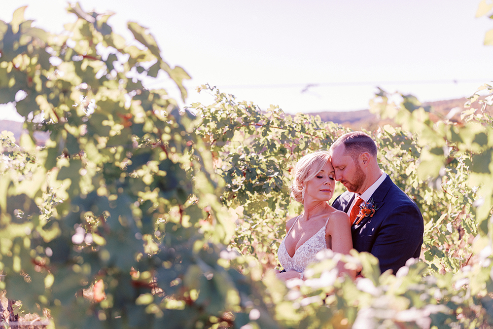 Couple Among the Grapevines