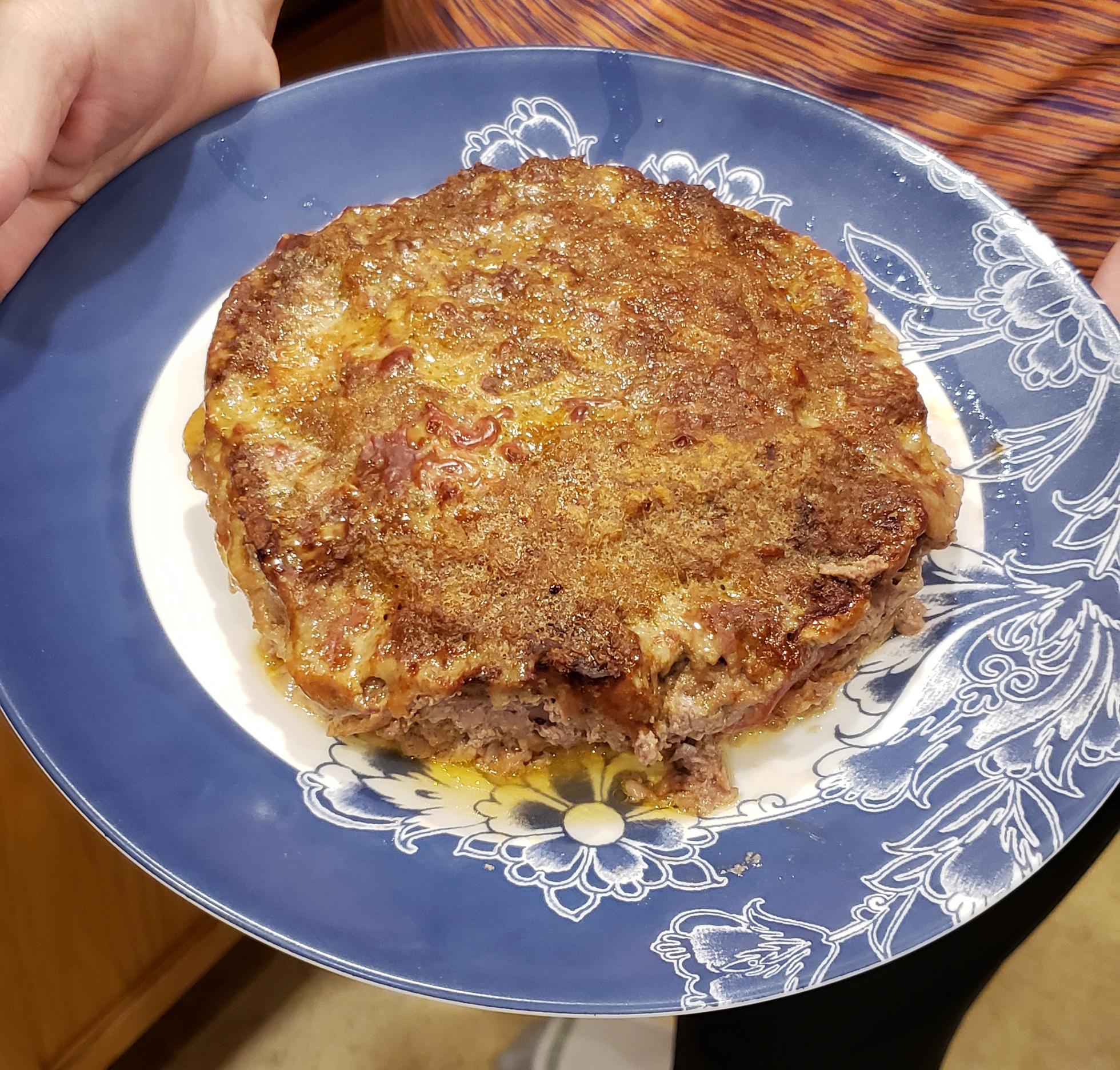 Sicilian meatloaf on plate