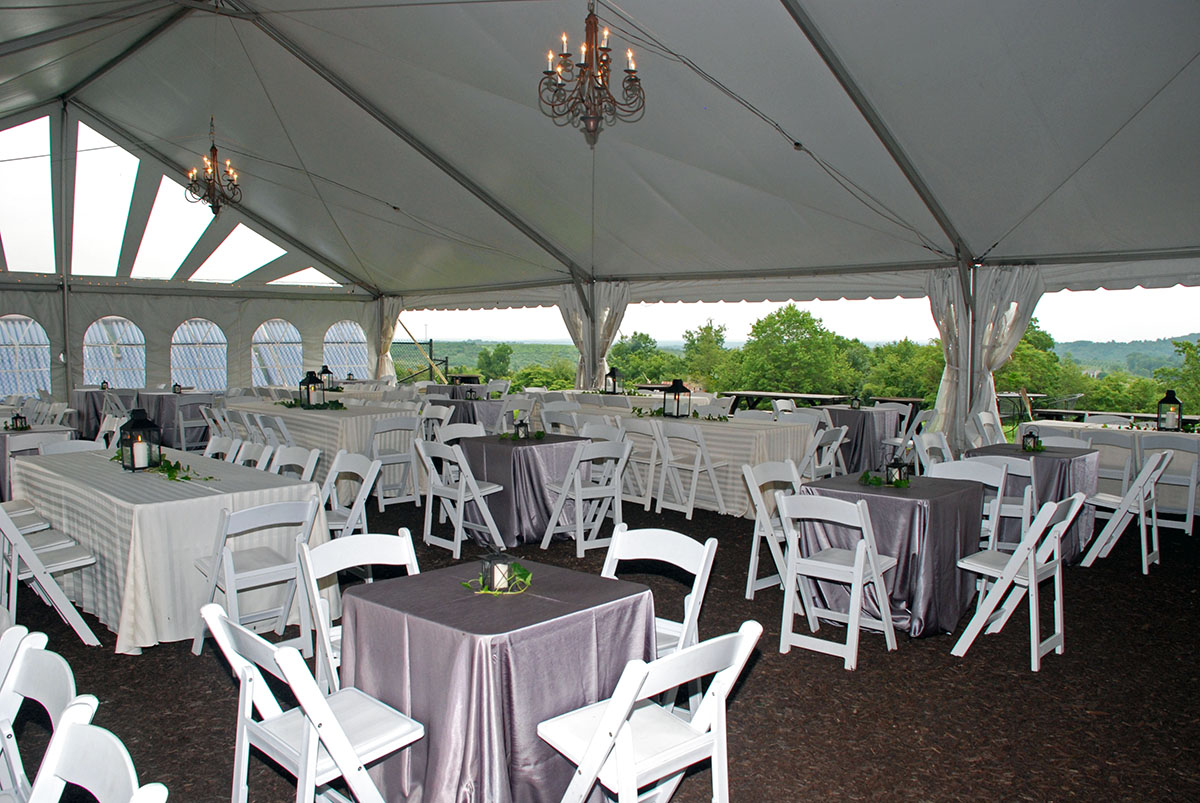 Table Arrangement Under Tent