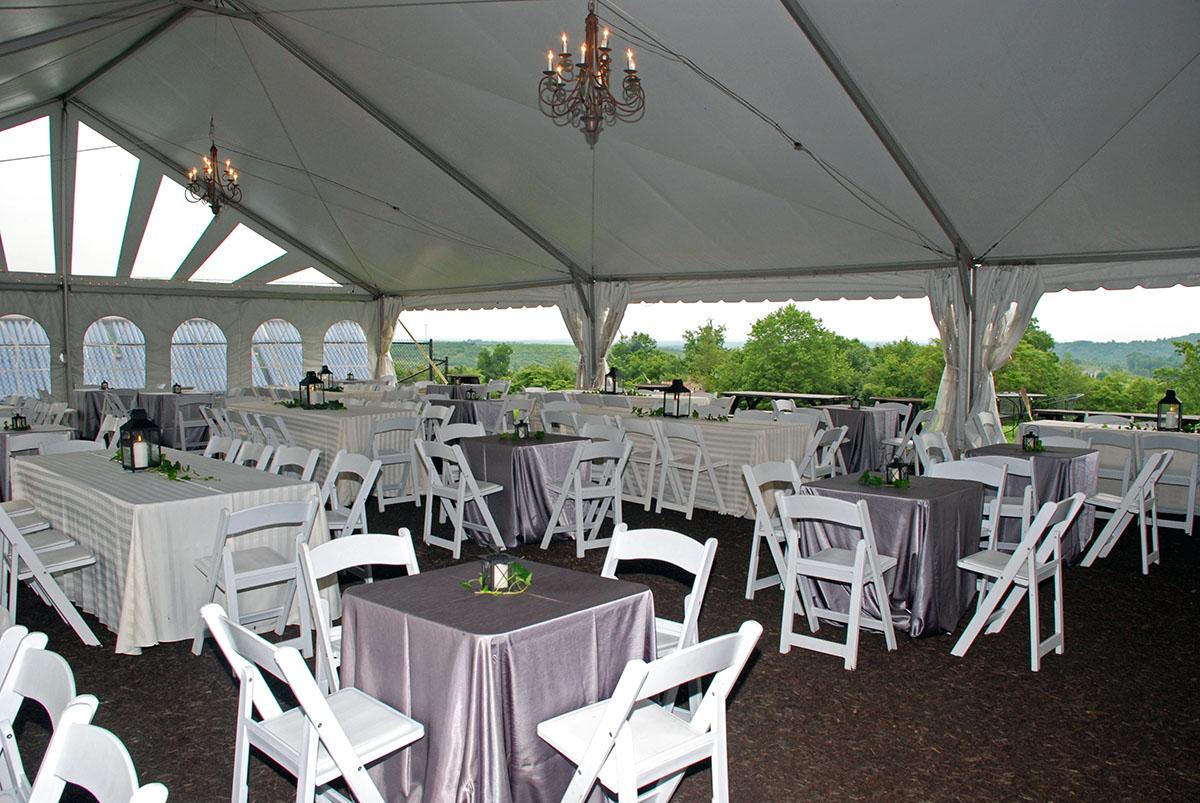 Table Arrangement Under Tent