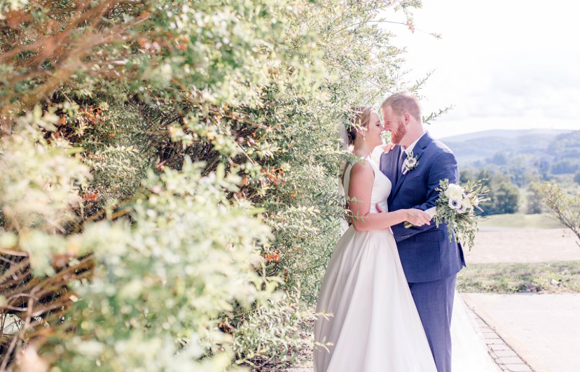 Couple At Hedgerow