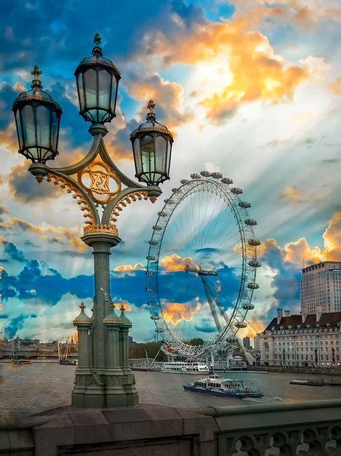 London Eye from the bridge
