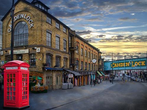 Camden Lock red phone