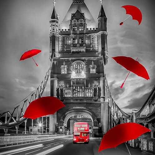 Tower of London red umbrella