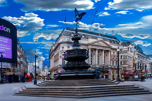 Piccadilly Circus Blue Sky