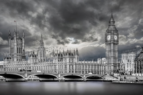 Big Ben black and white