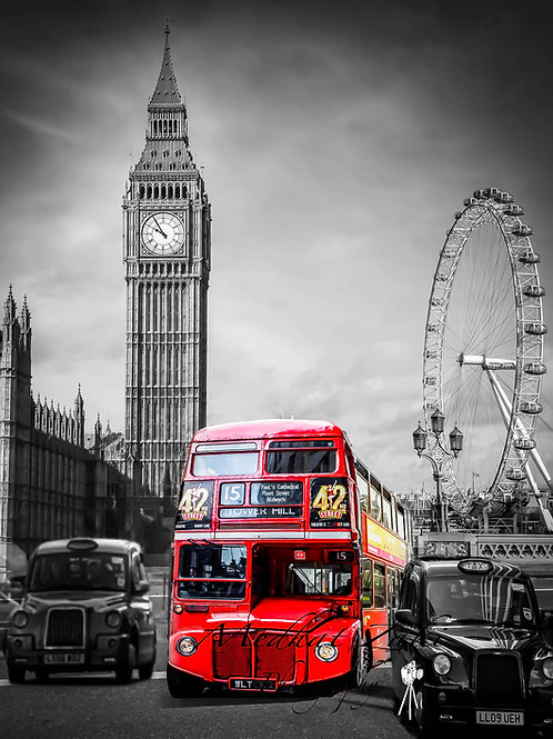 City of London red bus 2