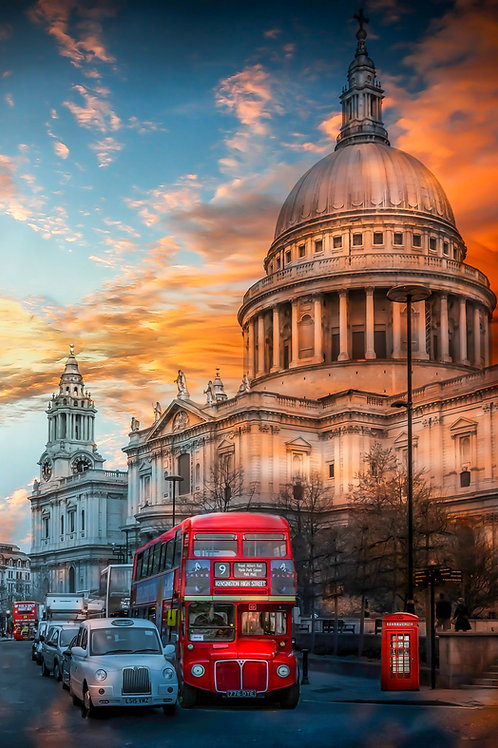 St Paul sun set