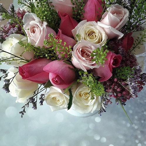 זר ורדים 2 צבעים