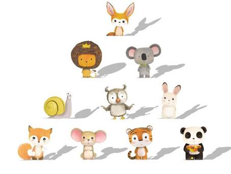 [リリーアンジェイ] 動物キャラクター形のかわいい アクリル鏡 、壁に付ける安全鏡、幼児・ 赤ちゃん・ 子供保護、 割れない鏡、