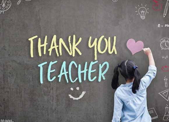 $20 Donation for Teacher appreciation Week