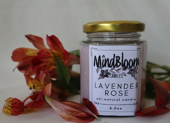 Lavender Rose Candle