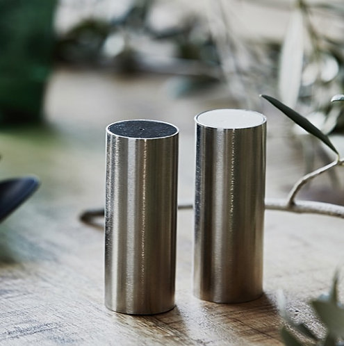 Brushed Silver Salt & Pepper Shaker