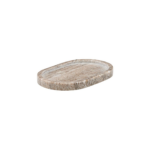 Beige Marble Oval Tray