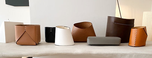 Handmade Leather Containers