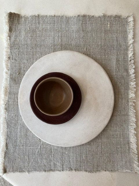 Beige Linen Placemats  - Set of 5