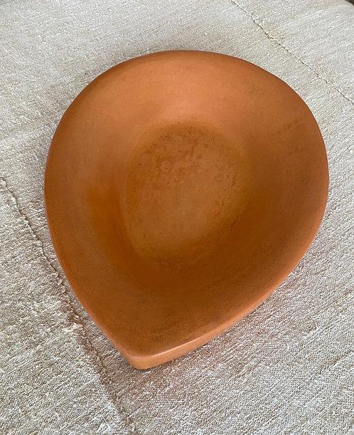 Stucco Terracotta Drop Plate