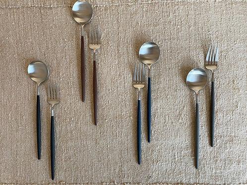 Serving Spoon&Fork Metal Goa