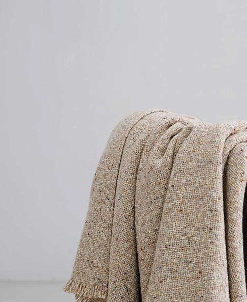 Camel Plaid 140x180 Cashmere/Lambs Wool