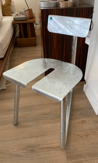 Chair SPC Galvanised Steel by Thomas Serruys (limited edition)