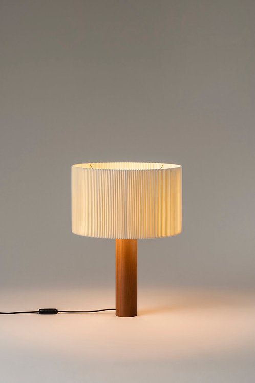 Table Lamp with cylindrical foot & big shade