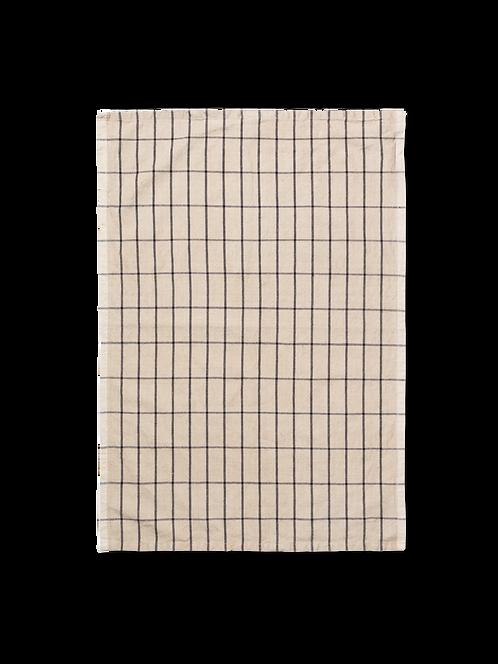 Cotton Dish Towel Sand/Black